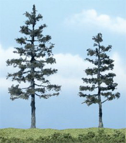 "Woodland Scenics TR1624 4"", 5.25"" Pine Ready-Made Premium Trees (Pack of 2)"