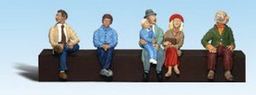 Woodland Scenics A1873 HO Scenic Accents Sitting Passenger Figures (Pack of 5)