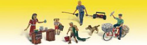 Woodland Scenics A1938 HO Scenic Accents Summertime Jobs Figures (Pack of 7)