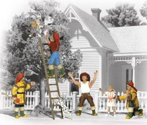 Woodland Scenics A2151 N Firemen to the Rescue Figures (Pack of 8)