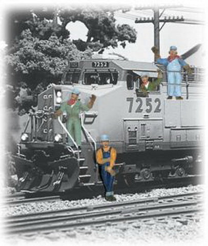 Woodland Scenics A2153 N Scale Train Engineer Figures  (Set of 6)