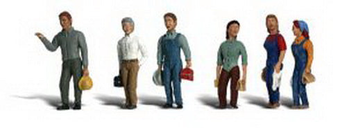 Woodland Scenics A2188 N Scenic Accents 2nd Shift Worker Figures (Pack of 6)