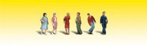 Woodland Scenics A2210 N Walking People Figures (Pack of 6)
