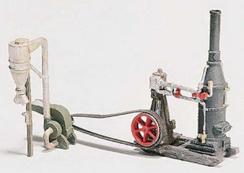 Woodland Scenics D229 HO Scenic Details Steam Engine and Hammer Mill Kit