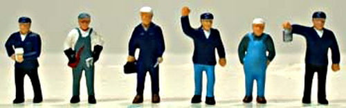Model Power 5704 HO Train Crew Figures (Set of 6)