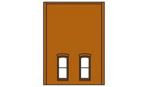 DPM 30137 HO Two-Story Wall Sections w/2 1st Floor Rectangular Windows Kit