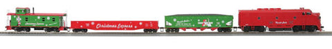 MTH 81-4006-0 Christmas HO Scale F-3 Diesel R-T-R Deluxe Freight Train Set