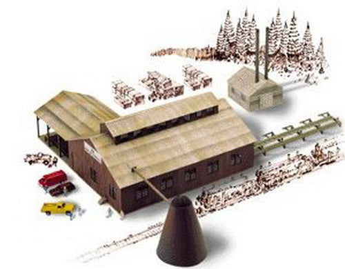 Walthers 933-3236 N Mountain Lumber Co. Sawmill Kit