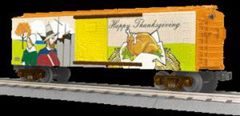 MTH 30-74655 O Happy Thanksgiving Boxcar