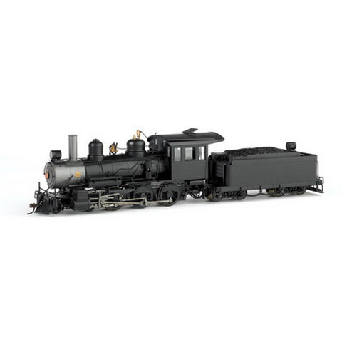 Bachmann 28696 On30 Painted & Unlettered Baldwin 4-6-0 Steel Cab w/DCC (Black)