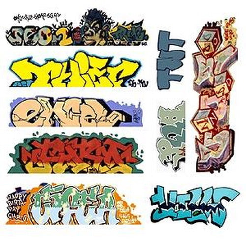 Blair Line 2249 HO Graffiti Decals Mega Set #6 (9)