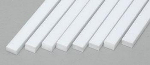 "Evergreen Scale Models 166 .080"" x .125"" x 14"" Polystyrene Strips (Pack of 8)"