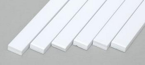 "Evergreen Scale Models 179 .100"" x .250"" x 14"" Polystyrene Strips (Pack of 6)"