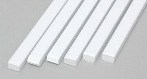 "Evergreen Scale Models 188 .125"" x .188"" x 14"" Polystyrene Strips (Pack of 6)"