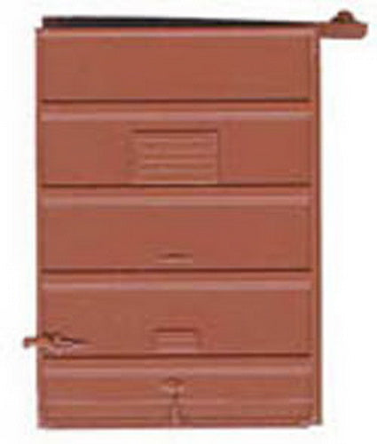 Kadee 2238 HO 7' Foot 5 Panel Superior High Tack Board Doors in Red Oxide