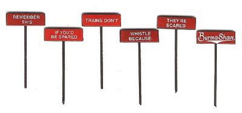 LaBelle 7602 Burma Shave Sign Set #2