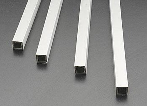 "Plastruct 90205 3/8"" x 1/4"" x 15"" ABS Plastic Square Tubing (Pack of 4)"