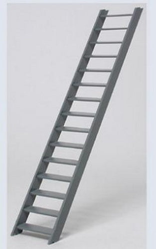 "Plastruct 90450 1:16 2-15/32"" x 1/2"" x 13/16"" ABS 3'-0"" Stair"