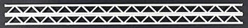 "Plastruct 90655 27/32"" x 1/2"" x 1/2"" Styrene Warren Open Web Truss (Pack of 2)"