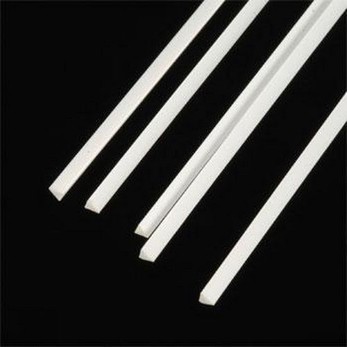 "Plastruct 90845 0.100"" x 10"" x 0.100"" Triangular Styrene Rod (Pack of 5)"