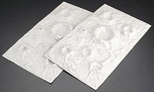 "Plastruct 91695 12"" x 7"" Moon & Craters Sheet (Pack of 2)"