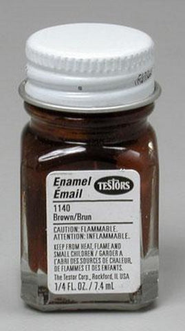 Testors 1140 Brown 1/4 oz. All Purpose Enamel Paint