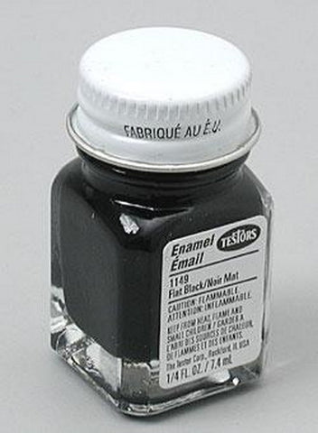 Testors 1149 Flat Black 1/4 oz. All Purpose Enamel Paint