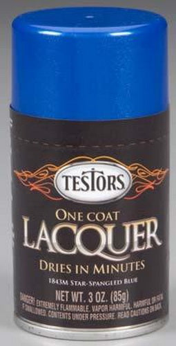 Testors 1843M 1 Coat Lacquers Star Blue