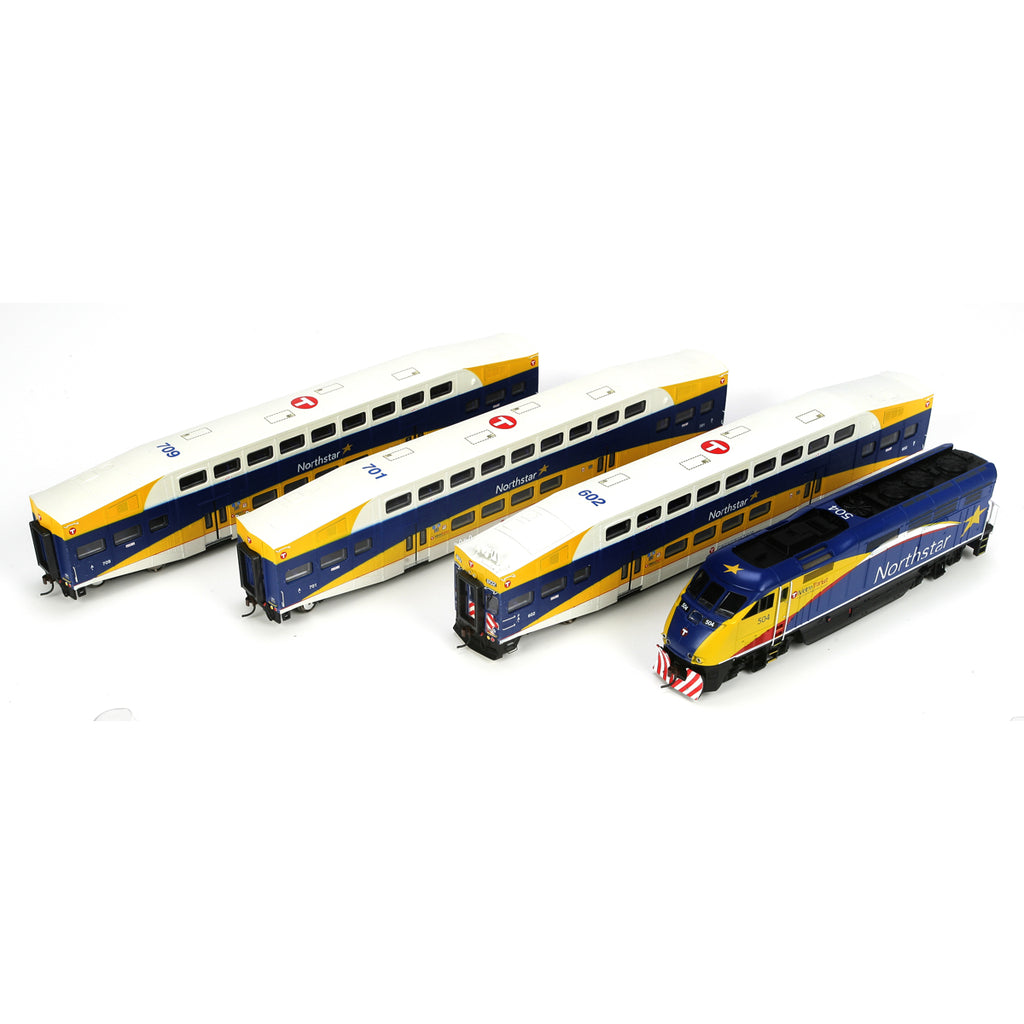 Athearn 25993 HO Northstar Commuter F59PHI Commuter Set