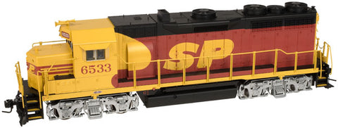 Atlas 31491 O Southern Pacific 2-Rail GP35 Gold with QSI  #6533
