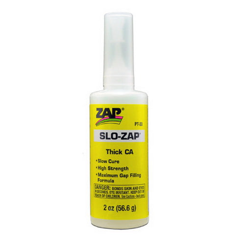 Pacer Glue PT33 Slo Zap 2 oz. Thick Super Glue