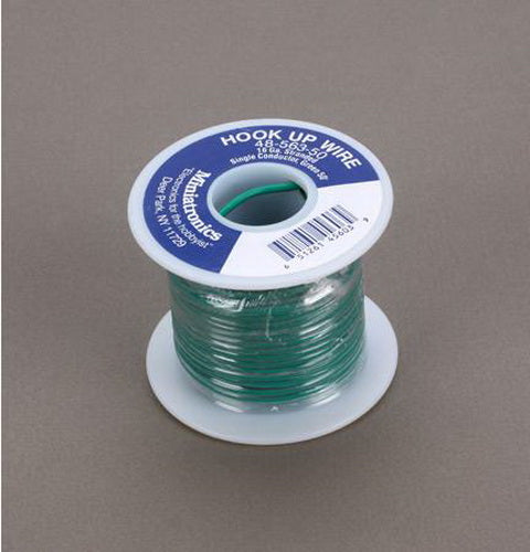 Miniatronics 48-563-50 Wire 16ga flex 50' green
