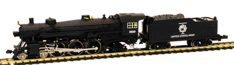 Model Power 87418 N United States Army Steam USRA 4-6-2 Pacific w/Standard Tender - Standard DC
