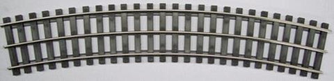 Gargraves 128-502S Std. Gauge 3 Rail Regular Stainless 128 Curve Plastic Tie Sectional Track