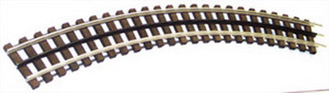 "Gargraves WT-54-102 O Gauge 3 Rail Phantom Stainless 54"" Curve Wood Tie Sectional Track"