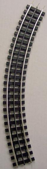 "Gargraves 63-102S O 3Rail Phantom Stainless 63"" Curve Plastc Tie Sectional Track"