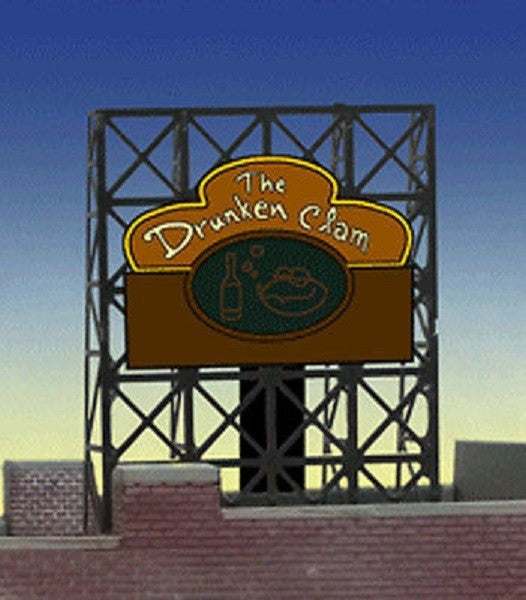 Miller Engineering 338885 N/Z Drunken Clam Animated Rooftop Billboard Small