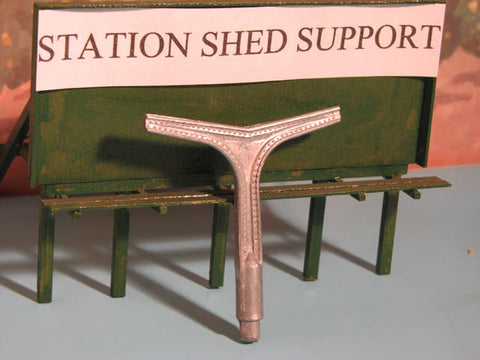 Alpine Division Scale Models 120A Station Shed Supportd 12/