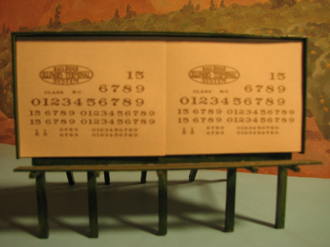 Alpine Division Scale Models 158 HO Decals Illinois Terminal Class BC (2)