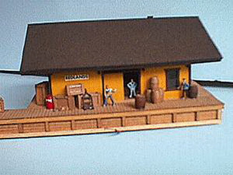 Alpine Division Scale Models 5111 1886 Freight house-orange