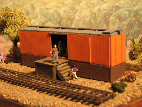 Alpine Division Scale Models 514 Boxcar Freight House Kit