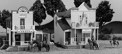 Alpine Division Scale Models 573 HO Old Town 2-Story Buildings (2)