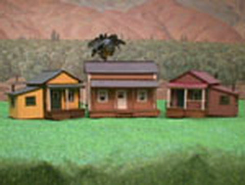 Alpine Division Scale Models 574 Old Town Ranch Style Homes (3) Kits