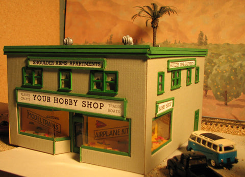 Alpine Division Scale Models 71 Hobby Shop 2 story