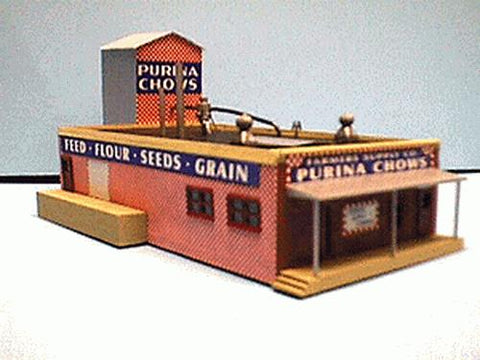 Alpine Division Scale Models 82 Purina Chows feed mill