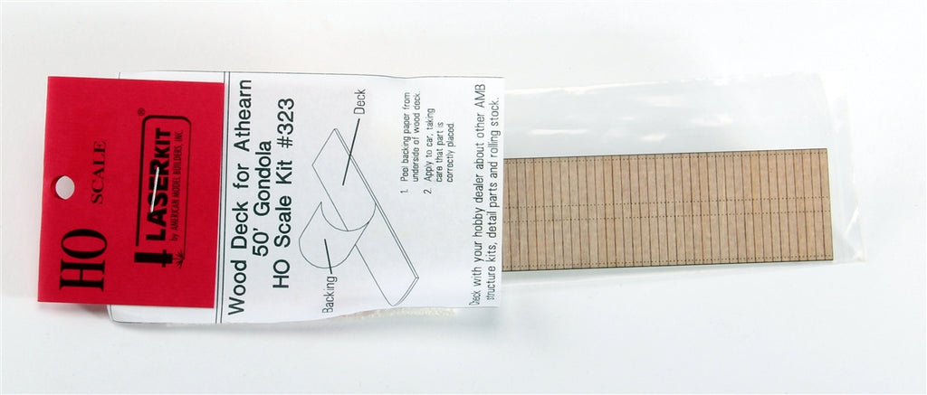 American Model Builders 323 HO For Athearn 50' Gondolas Laser-Cut Wood Deck