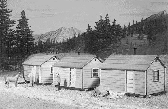 American Model Builders 710 Laser Art Long-Bell Shacks HO Scale Kit (Pack of 3)