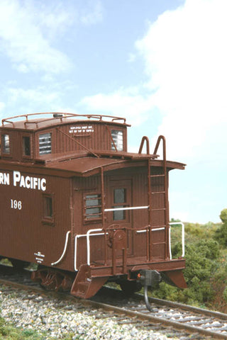 American Model Builders 876 HO Southern Pacific Modernized C-30-1 Wood Caboose Kit Laser-Cut Wood