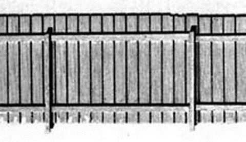 B.T.S. 23014 HO Board Fence 90 Scale Feet