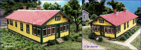 Blair Line 094 N Santa Fe 6 Room Section House Laser-Cut Building Kit